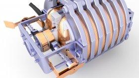 Electric Motor Steampunk & Futuristic 3d 24