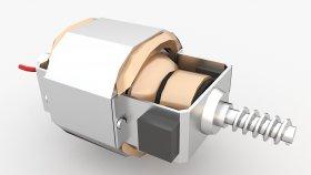 Electric Motor Low Polygon 3d 21