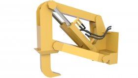 Ripper Bulldozer Lowpoly 3d 2