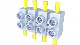 Electric Terminal Box 3d 6