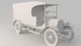 Oldsmobile Antique Car Truck Low 3D Model 5