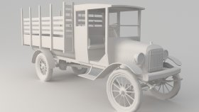 3D Model Oldsmobile Truck Low 6