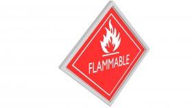 Sticker Symbol Warning Flammable 2 3d