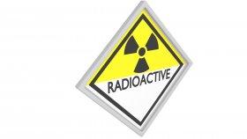 Sticker Symbol Warning Radioactive 3 3d