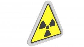 Sticker Symbol Warning Radioactive 4 3d