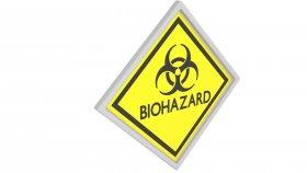 Sticker Symbol Warning Biohazard 5 3d