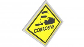 Sticker Symbol Warning Corrosive 7 3d