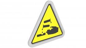 Sticker Symbol Warning Corrosive 8 3d