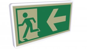 Sticker Symbol Warning Exit 11 3d