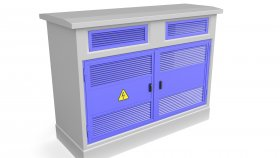 Electrical Distribution Box & Electrical Cabinet 3D Model 3