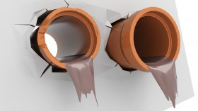 Concrete Pipes Sewer 3D Model 14