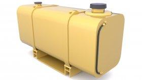 Fuel Tank Low poly 3d 5