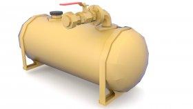 Fuel Tank Low poly 3d 7