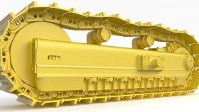Track Bulldozer & Track Excavator 3D Model 1