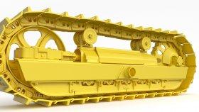 Track Bulldozer & Excavator 3d 2