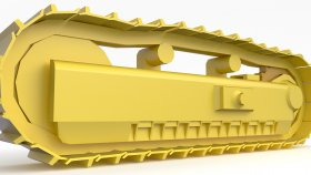 Track Bulldozer & Excavator LowPoly 3d 4