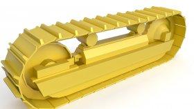 Track Bulldozer & Excavator Lowpoly 3d 5