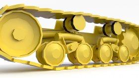 Track Bulldozer Low Game 3D Model 6
