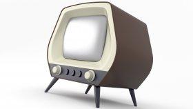 Old TV Retro & Vintage 3d 4