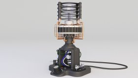 Lamp Table Steampunk & Loft 3d 221