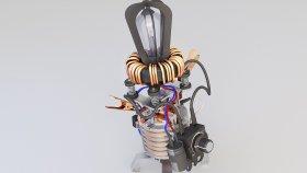 Lamp Table Steampunk & Loft 3d 260