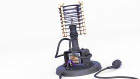 Lamp Table Steampunk & Loft 3d 323