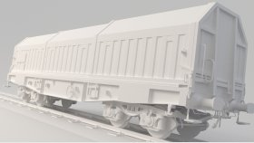 Lowpoly Train Container Simms 3d (2)
