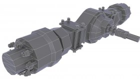 Suspension Rear Drive Axle LowPoly 3d 8
