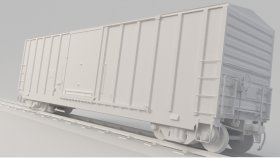 Lowpoly Train Container Boxcar 3d (3)