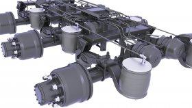 Suspension Rear Drive Axle 3d 34