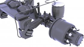 Suspension Rear Drive Axle 3d 35