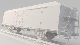 Refrigerated Boxcar 3D Model 5