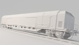 Refrigerated Train 3D Model 4