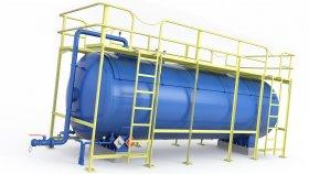 Liquid Gas LNG Tank Industrial Service Platform 3D Model 31