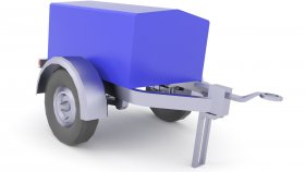 Trailer Cargo Lowpoly 3d 4