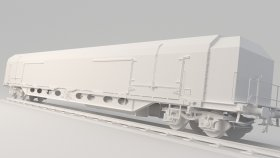 Game Mods Refrigerated Railcar 3D Model 4