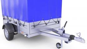 Cover Cargo Trailer 3D Model 18