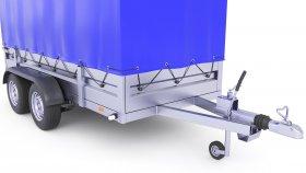 Utility Tarpaulin Box Cargo Trailer 3D Model 19