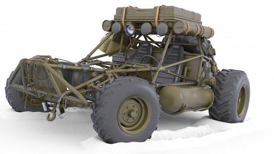 Buggy Post Apocalyptic Car 3d 1