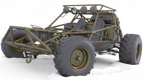 Buggy Post Apocalyptic Car 3d 2