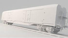 Refrigerator Train Simulators Game 3D Model 6