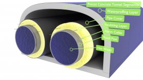 Tunnel District Heating Pipes Steam 3d 15