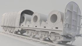Shimmns Boxcar Coil Car 3D Model 9