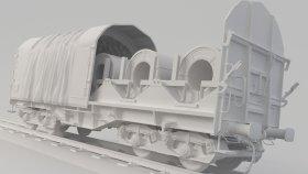 Shimmns Coil Train Car 3D Model 10