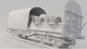 Shimmns Steel Coil Rail Car 3D Model Low Poly 10