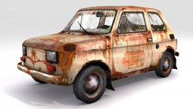 lowpoly Fiat 126p Game Model