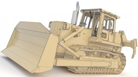 Bulldozer Low Polygon (1)