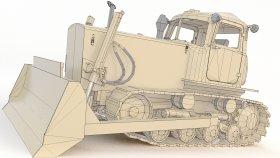 3D Model Heavy Equipment Bulldozer Low Poly (3)