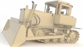 3d Bulldozer Game Model Low poly (4)