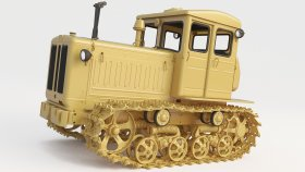 3D Model Soviet Bulldozer 5